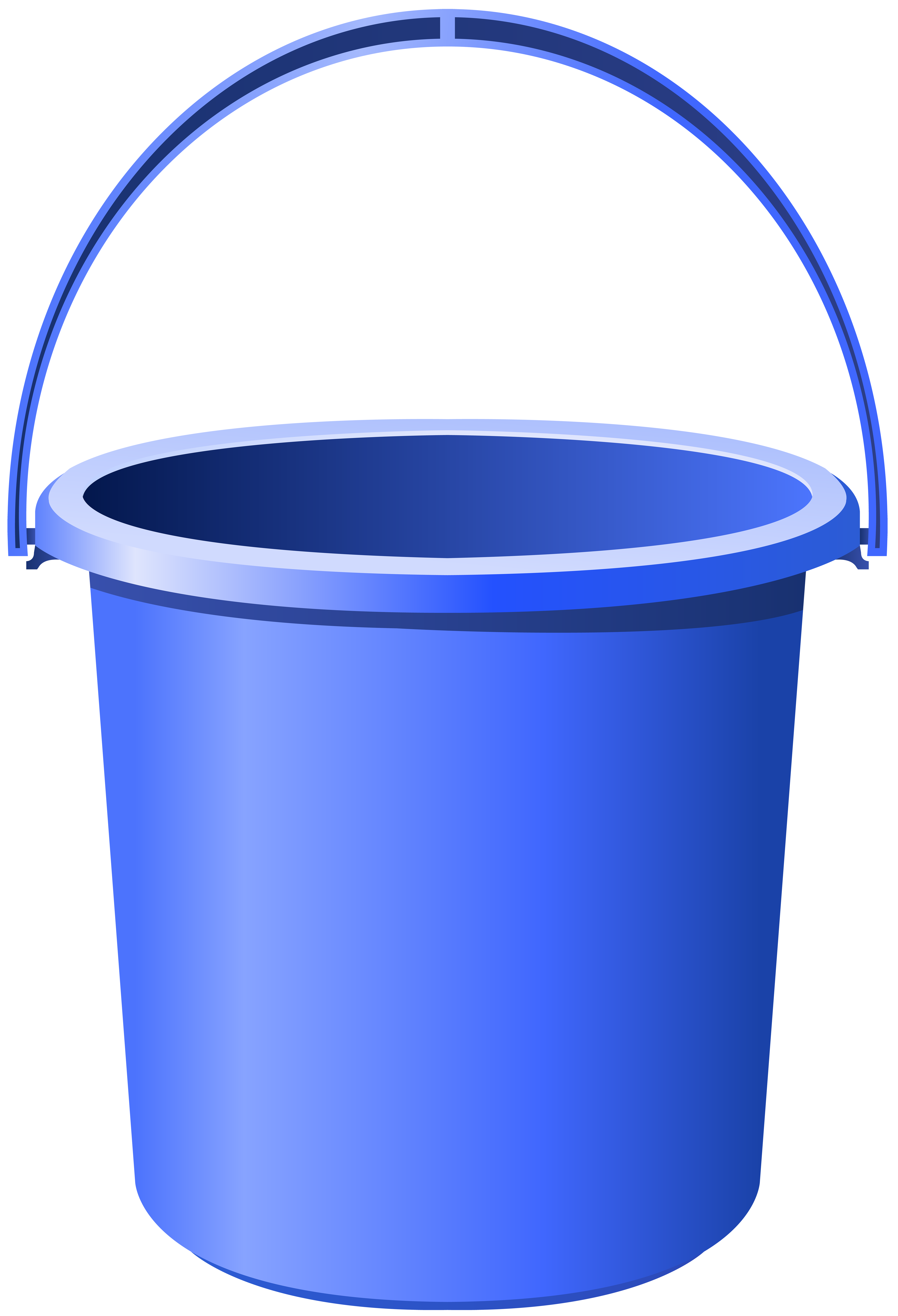 Blue Bucket PNG Clip Art Image.
