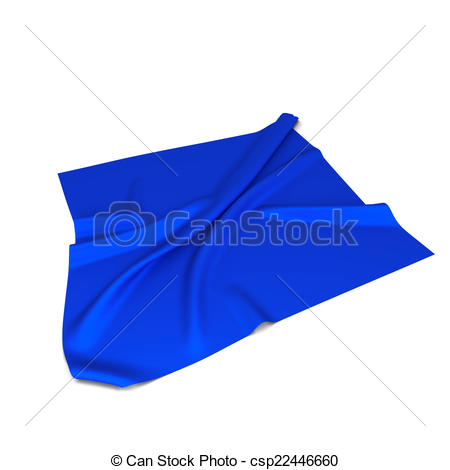 Stock Illustration of Piece of cloth. 3d illustration isolated on.