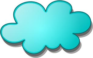Blue Clouds Clip Art.