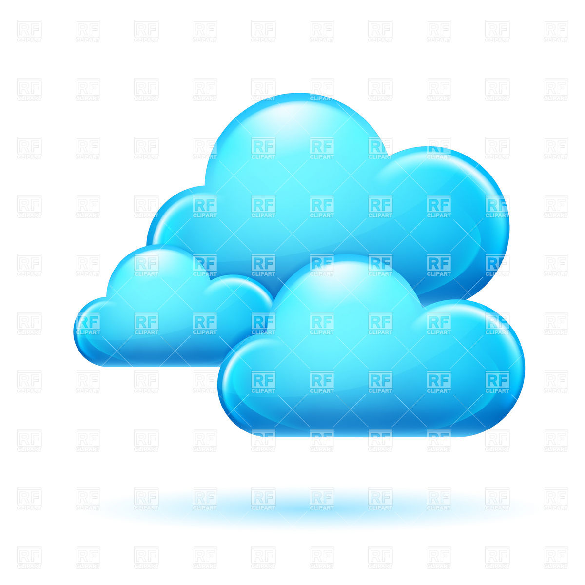 Blue Clouds Vector Image #6492.