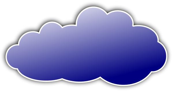 Color cloud clipart.