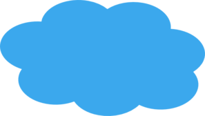 Blue Cloud Clipart.