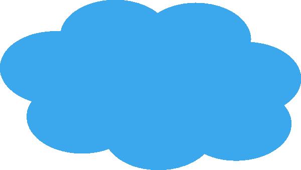 Blue Cloud Clip Art at Clker.com.