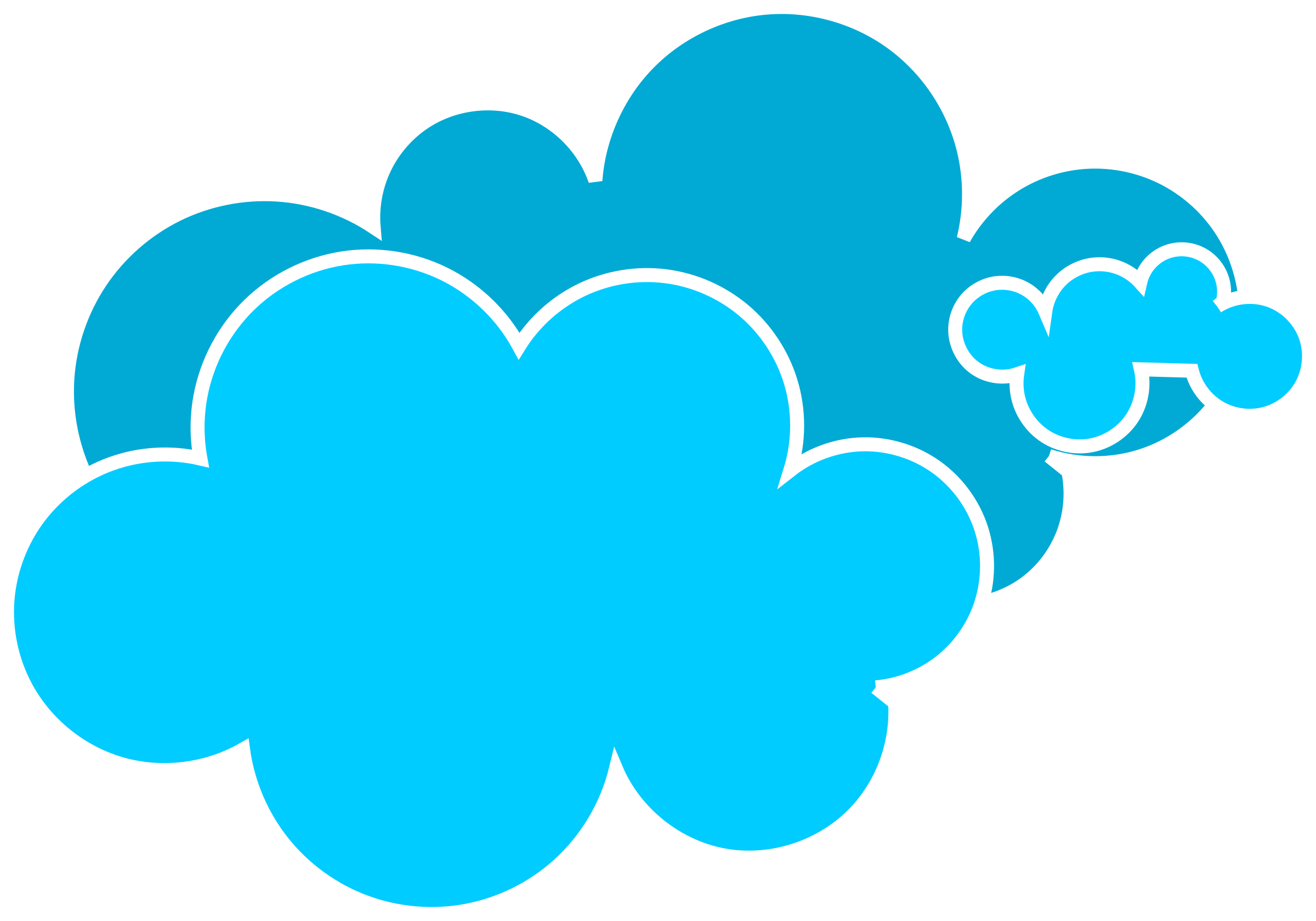 Blue Cloud Clipart Cupcake.