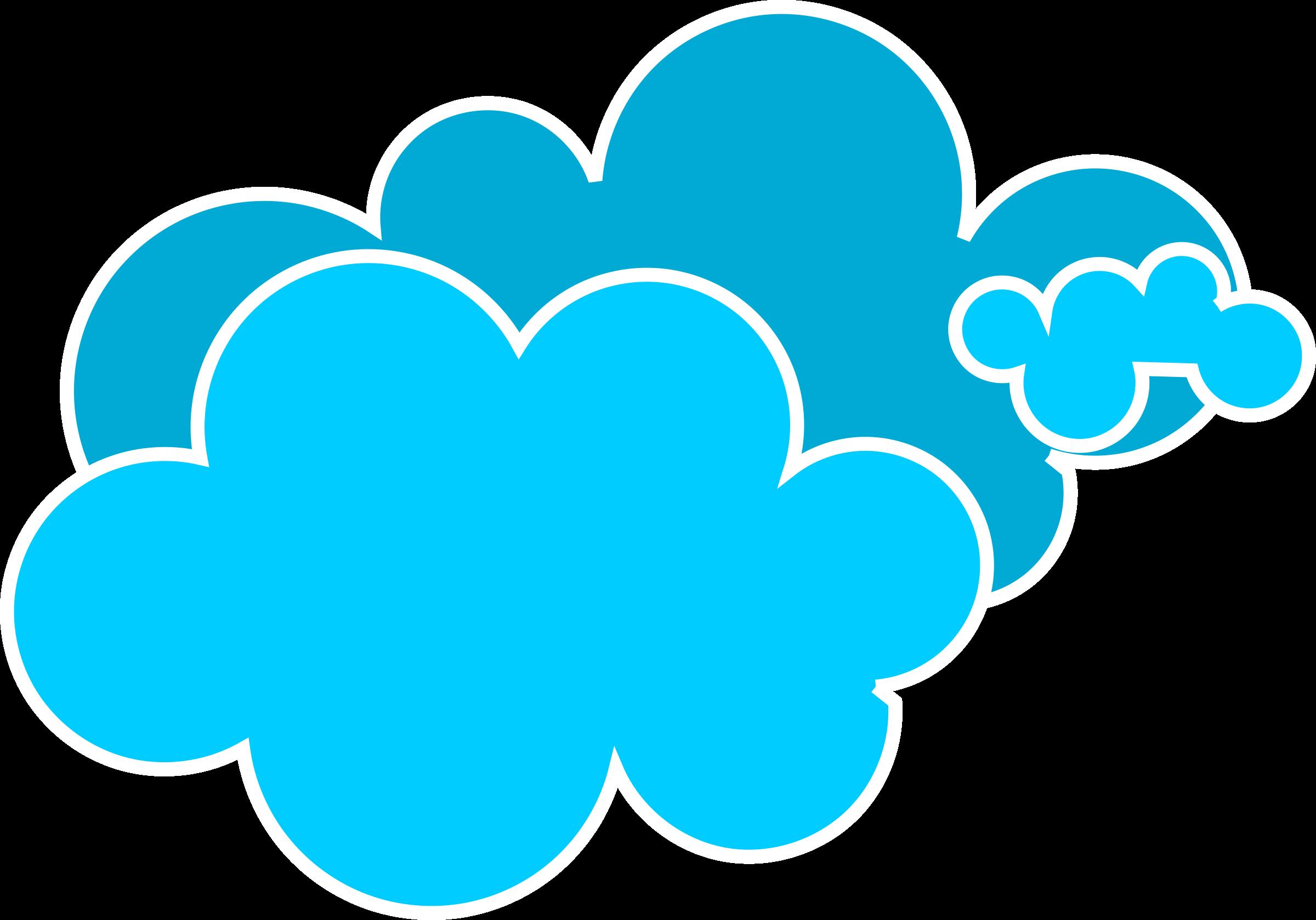 Blue Cloud Clipart Cupcake.