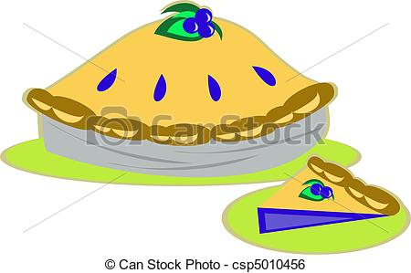 EPS Vector of Blueberry Pie.