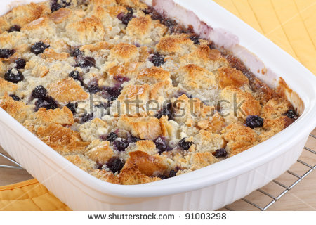 Blueberry Cobbler Stock Photos, Royalty.