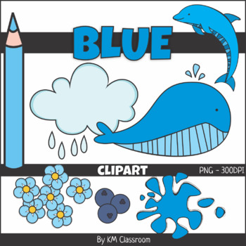 Color Objects BLUE ClipArt.
