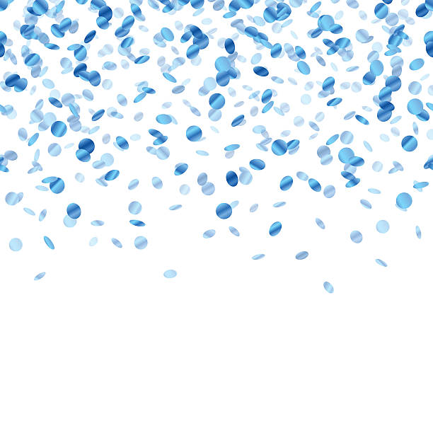 Best Blue Confetti Illustrations, Royalty.