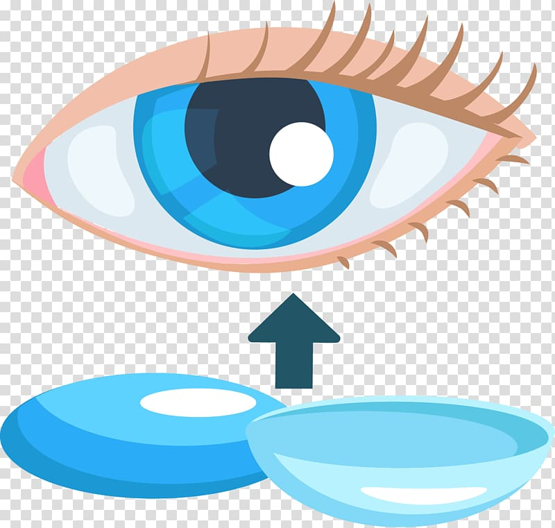 Eye Contact lens , Eye contact lenses transparent background.