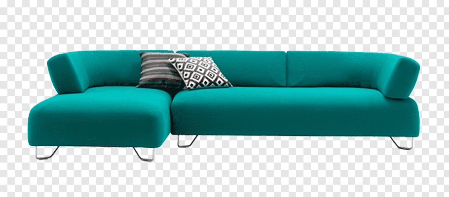 Blue couch, Sofa bed Couch, Modern minimalist sofa free png.