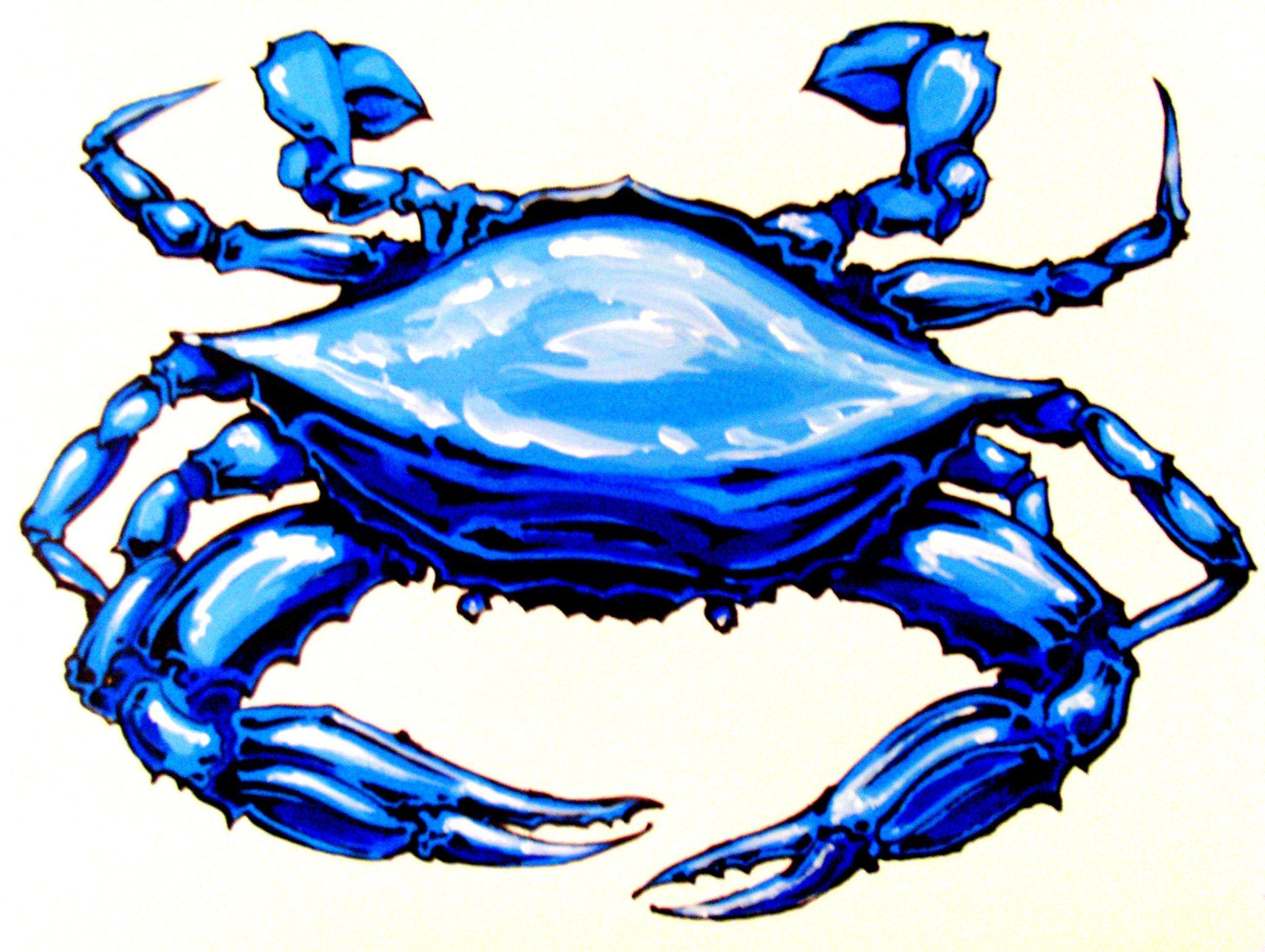 Blue Crab Painting.