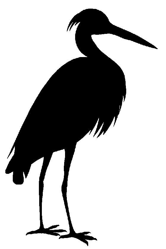 blue heron silhouette.