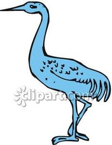 One_Blue_Crane_Royalty_Free_Clipart_Picture_090223.