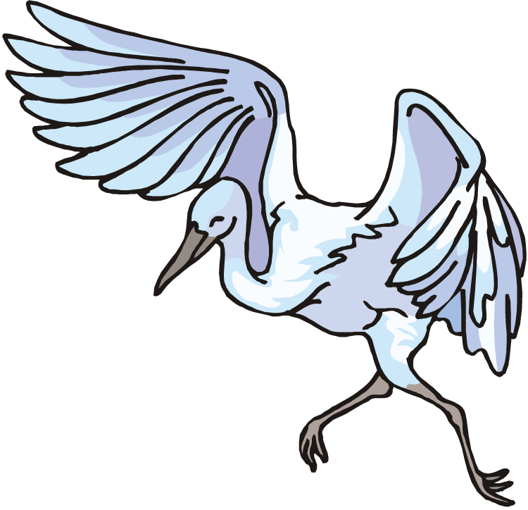 Crane animal clipart.