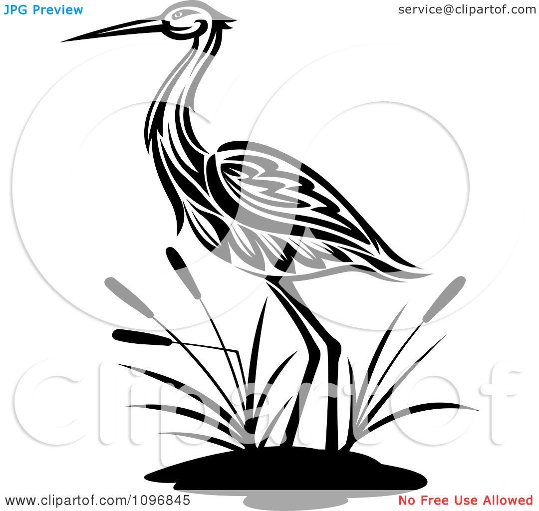 Animal crane clipart silhouette.