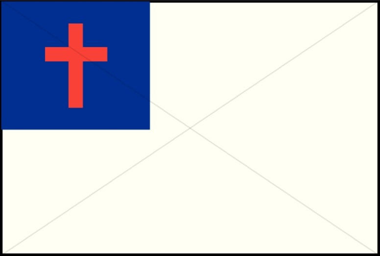 Red White and Blue Cross Flag.