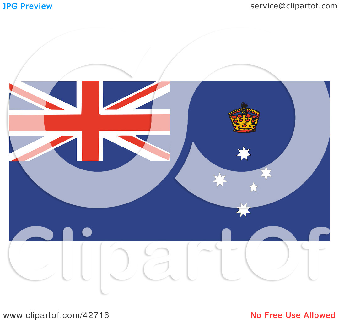 Red white blue flag clipart.