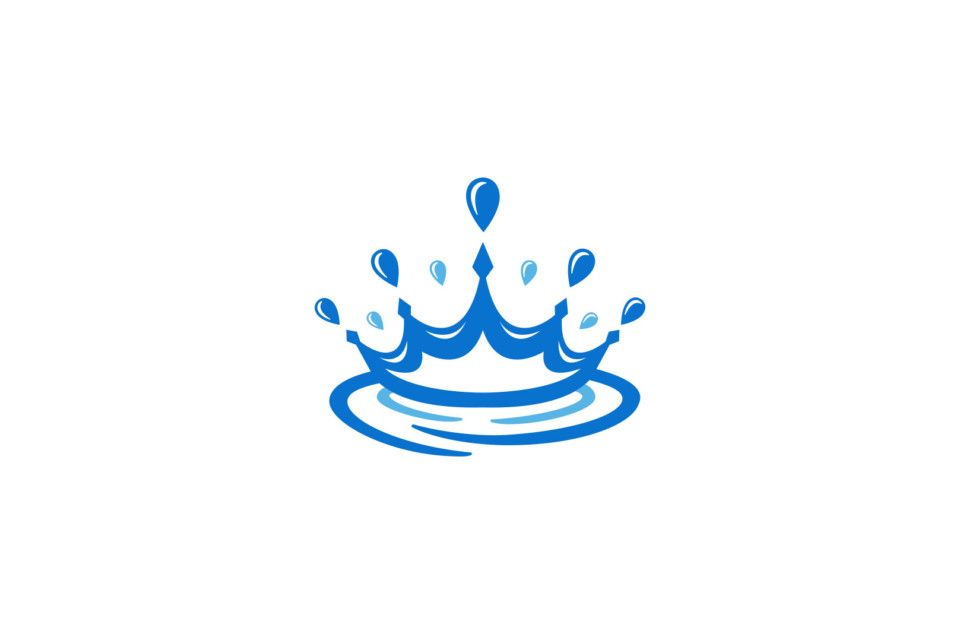 Atum Logo, logo icon design, branding, King\'s crown, water.