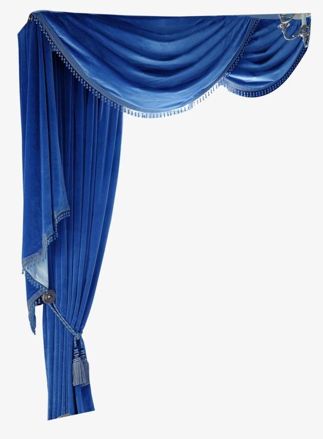 Blue Curtains PNG, Clipart, Backgrounds, Blue, Blue Clipart.