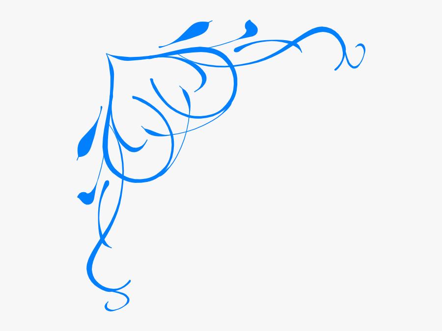 Blue Flower Clipart Border.