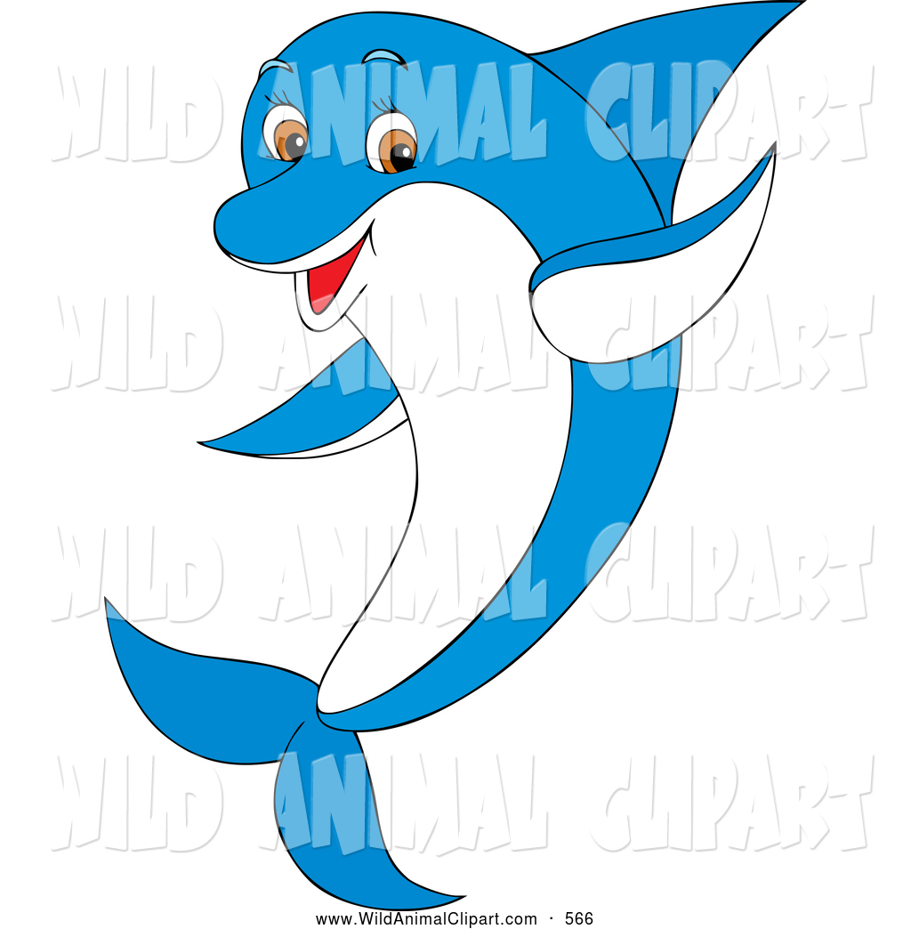 Blue Dolphin Clipart.