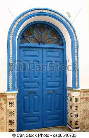 Stock Photos of Blue Door in Morocco.