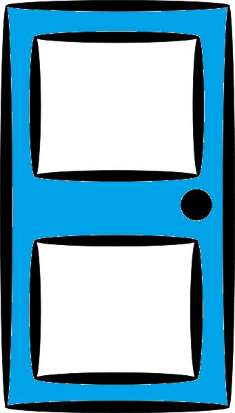 Blue Door Clip Art.