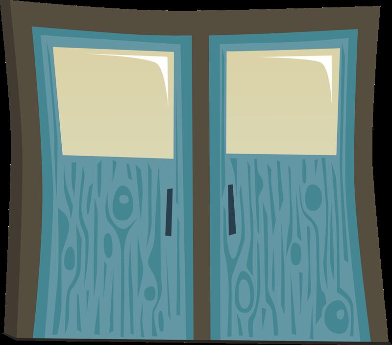 Free Blue Door Clip Art.
