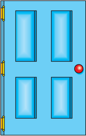Cartoon Door Clipart.