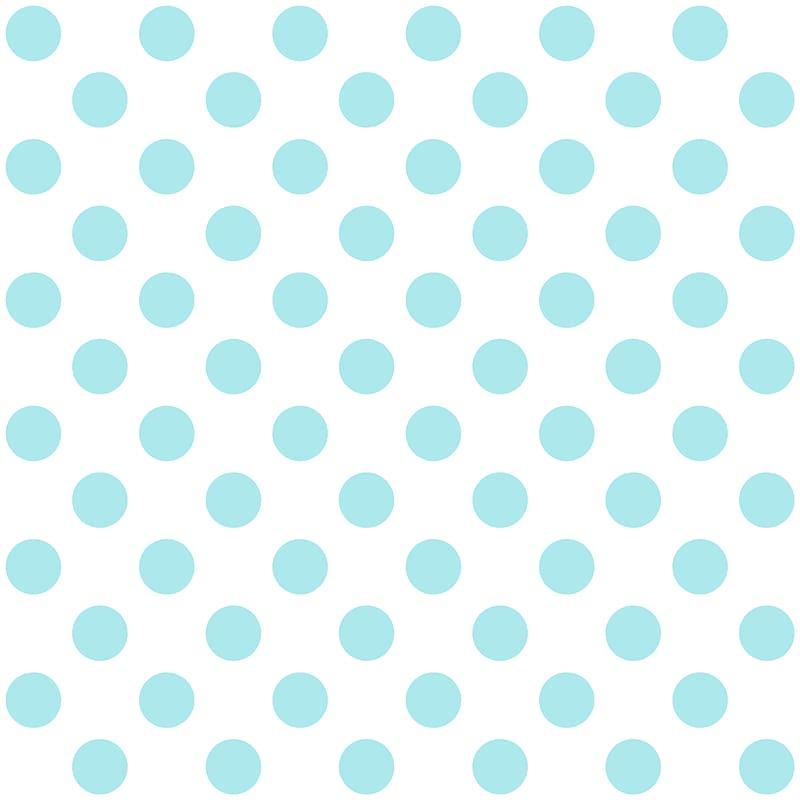 Blue and white polka.