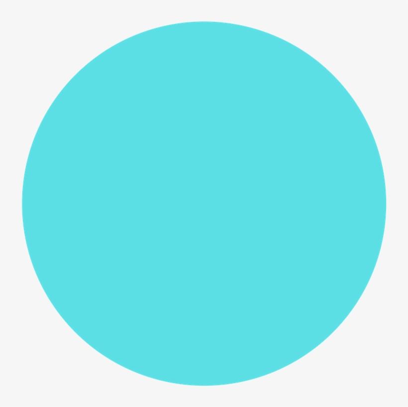 Light Blue Dot Transparent Background PNG Image.