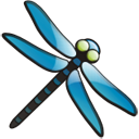 Free Little Blue Dragonfly Clip Art.
