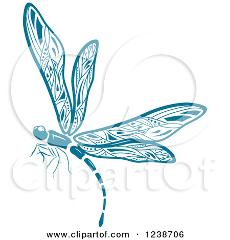 Blue dragonfly clipart.