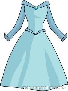 Blue dress clipart #9