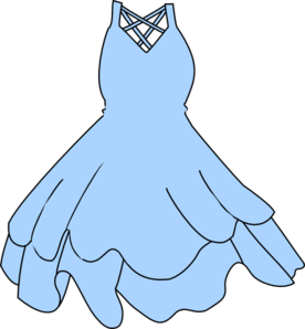Blue dress clipart.