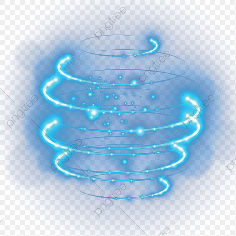 Blue Light Effect, Cartoon, Hand Painted, Blue PNG Transparent Image.