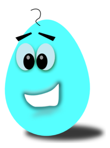 Light Blue Comic Egg Clip Art at Clker.com.
