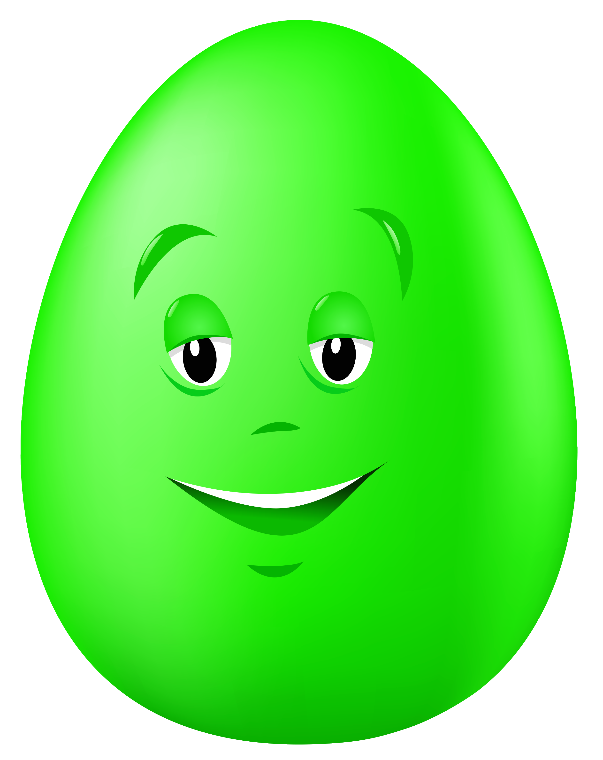 Green egg clipart.