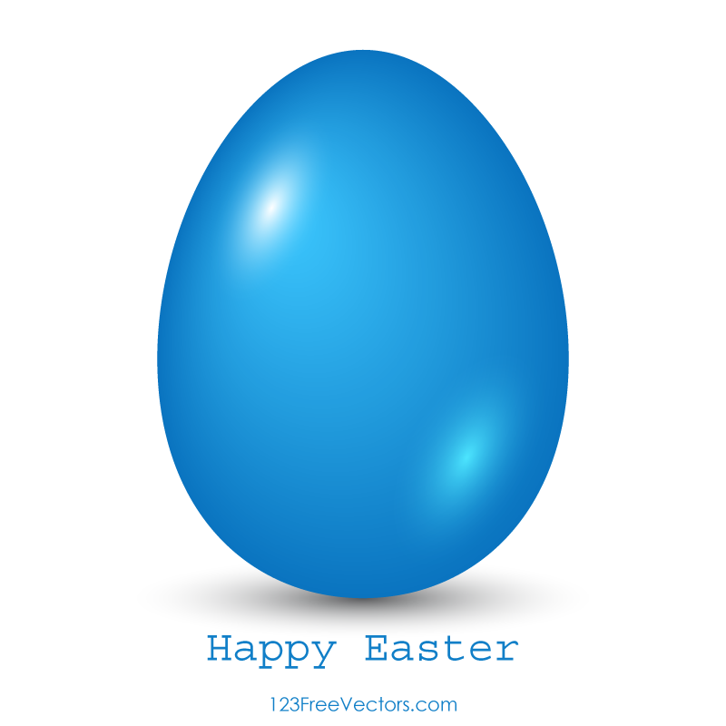 Blue Easter Egg Clip Art.