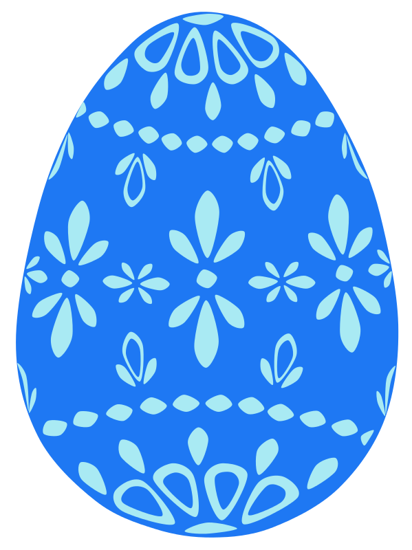 Blue easter egg clipart.