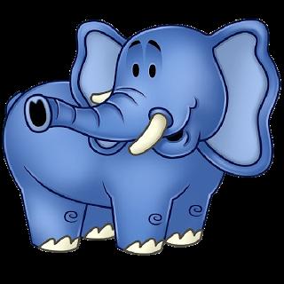 Blue elephant clipart.