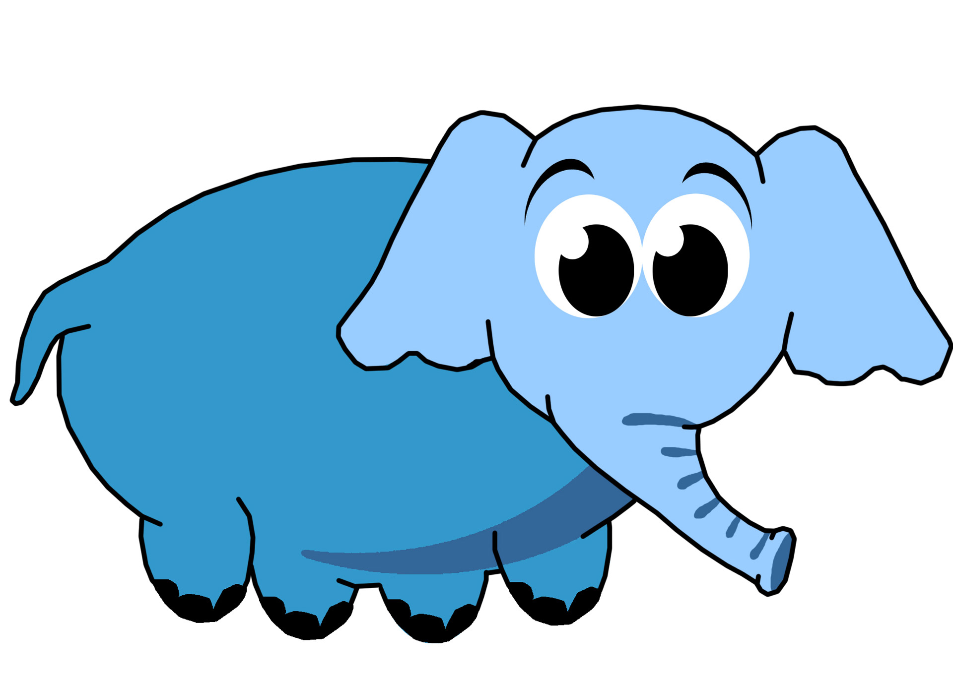 Blue Elephant Clip Art Free Stock Photo.