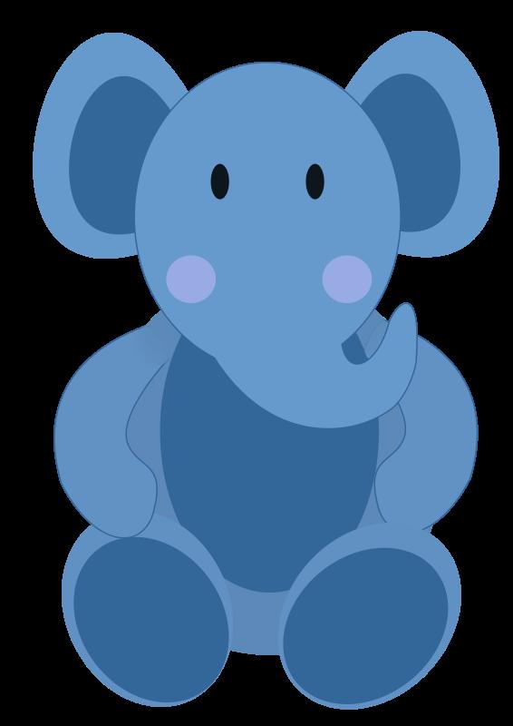 Baby elephant blue elephant clipart kid.