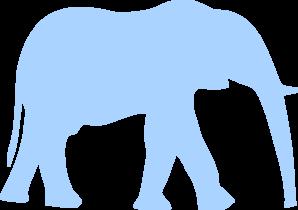 Blue Elephant Clip art.