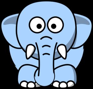 Light Blue Elephant Clip Art at Clker.com.