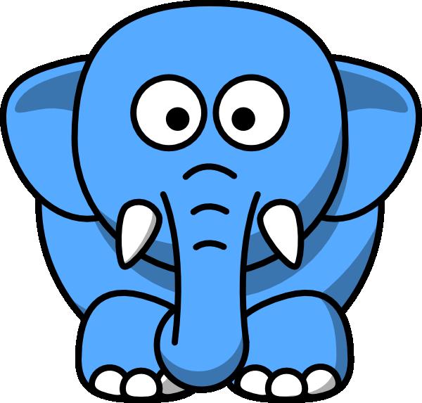 Blue Elephant Clip Art at Clker.com.