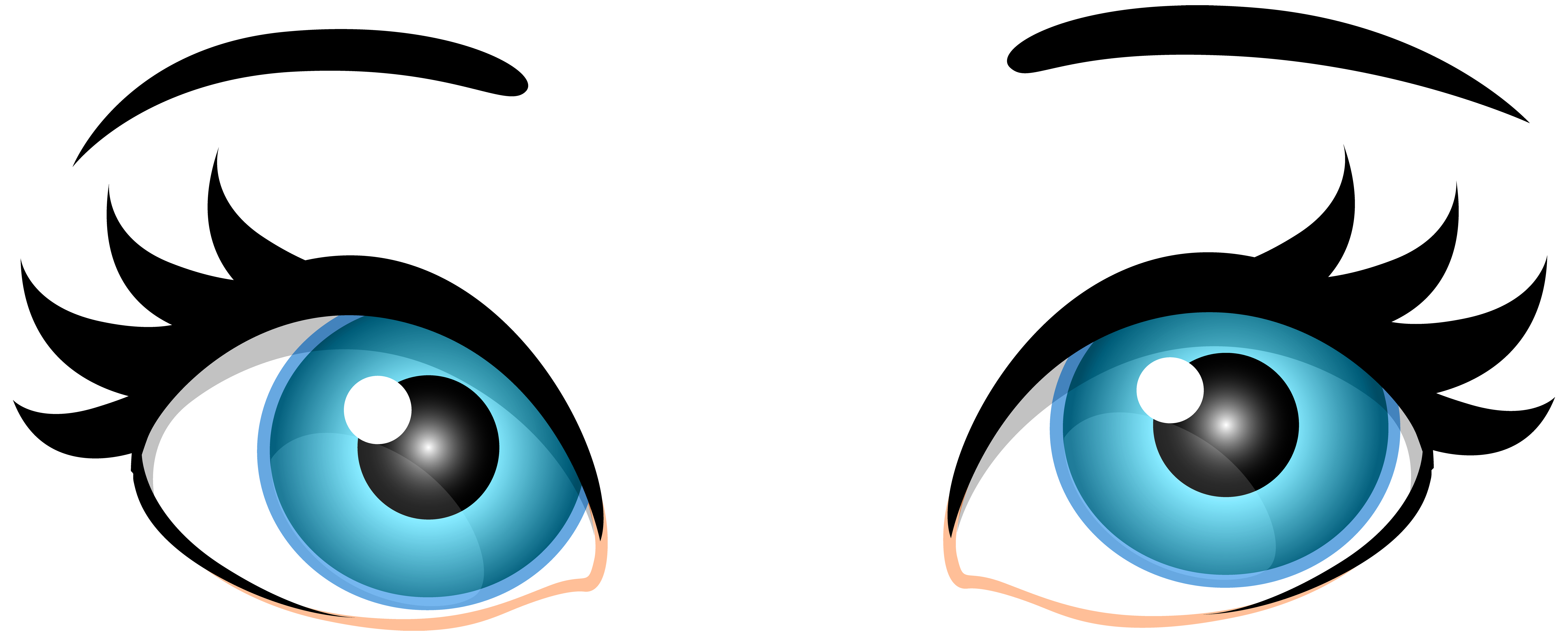 Blue Female Eyes PNG Clip Art.