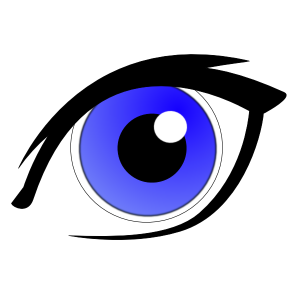 Blue Eye With Eyeliner Clip Art at Clker.com.