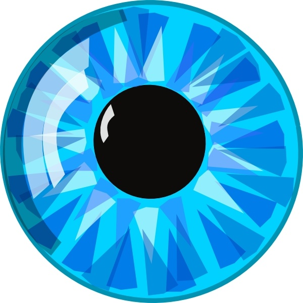 Blue Eye clip art Free vector in Open office drawing svg ( .svg.